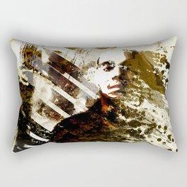 Splatter-Portrait Rectangular Pillow