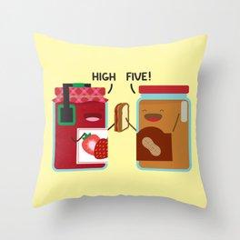 PB & J - High Five Throw Pillow