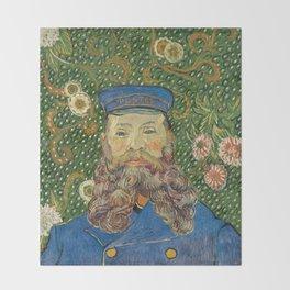Portrait of the Postman Joseph Roulin by Vincent van Gogh Throw Blanket