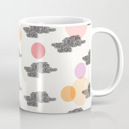 Black Clouds and Colour Dots Coffee Mug