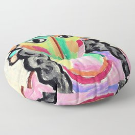 Alexej von Jawlensky - The pale girl with gray pigtails - Digital Remastered Edition Floor Pillow