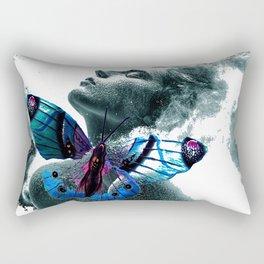 Girl with butterfly Rectangular Pillow