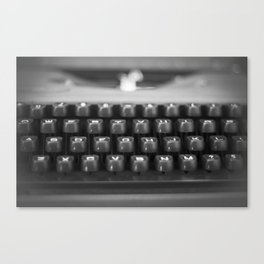 in black and white Canvas Print