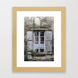 Old Window Framed Art Print