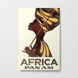Africa Vintage Travel Poster Metal Print