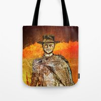 clint barton Tote Bags featuring Clint by Rabassa