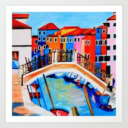 Colors of Venice Italy Art Print
