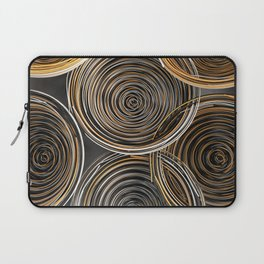 Black, white and orange spiraled coils Laptop Sleeve