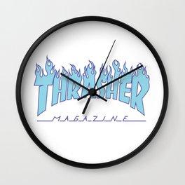 Thrasher Blue Wall Clock