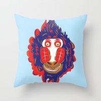 gorilla Throw Pillows featuring Gorilla by echo3005