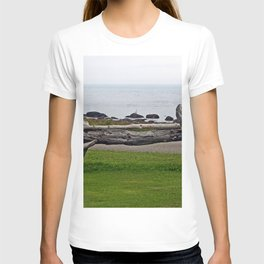 Driftwood Fence and the Sea T-shirt