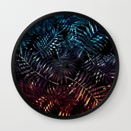 Abstract palm leaves Wall Clock