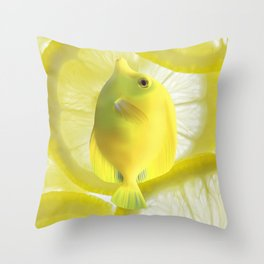 Lemon Fish Throw Pillow