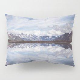 Mountain Lake Reflection - Landscape and Nature Photography Pillow Sham