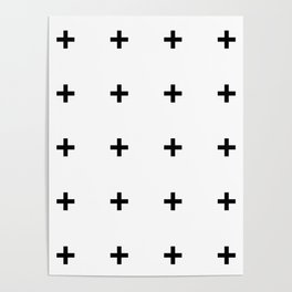 Black Plus on White /// www.pencilmeinstationery.com Poster