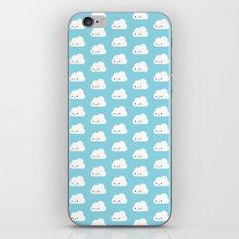 Happy Kawaii Clouds iPhone Skin