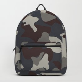 Grey Blue army camo camouflage pattern Backpack