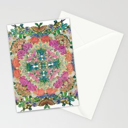 Mr Lincoln - Rose, Passion Flower and Butterfly Mandala Stationery Cards