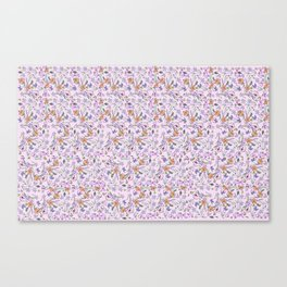 flowers and leaves on pink background . ( https://society6.com/simpledoodles/collection ) Canvas Print