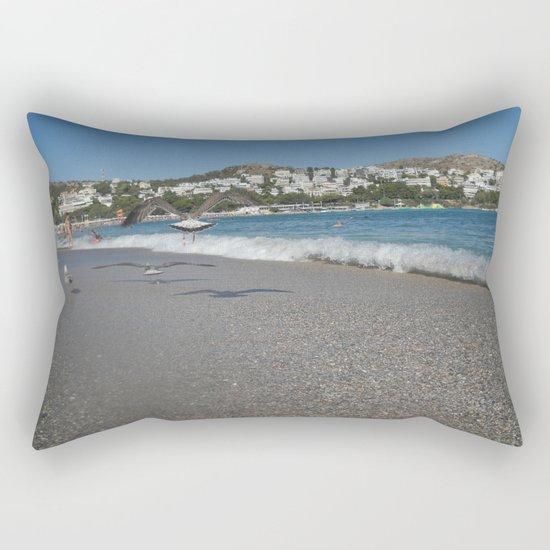 Seagull Beach Greece Rectangular Pillow