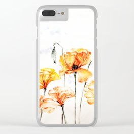 Springful thoughts Clear iPhone Case