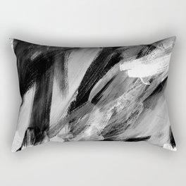 Abstract Artwork Greyscale #1 Rectangular Pillow