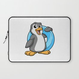 Penguin at Swimming with Swimming ring Laptop Sleeve