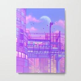Cosmic City Train Metal Print