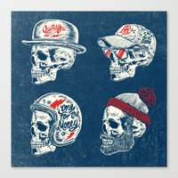 skulls Canvas Prints featuring Skulls  by HATCHER_DRAWS