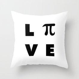 Love Pi Throw Pillow