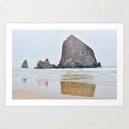 Haystack Rock in Cannon Beach Oregon Art Print