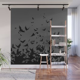 An Unkindness of Ravens (Grey) Wall Mural