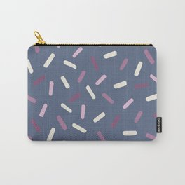 Hand painted blush pink lavender white confetti brushstrokes Carry-All Pouch