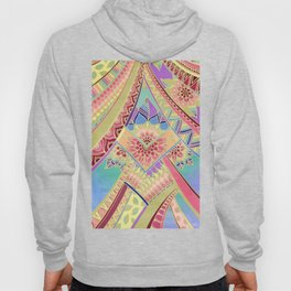 Rise and Shine - Rainbow Hued, Multi-Colored Doodle Hoody