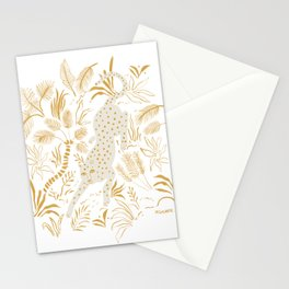 Golden Cheetah Stationery Cards