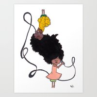 telephone Art Prints featuring Telephone by Little Sketches by Raj D