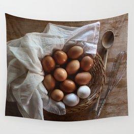 Farmhouse Fresh Eggs Wall Tapestry