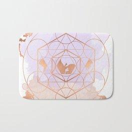 Light Me Up and Away - Copper Rose Gold Bath Mat