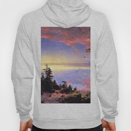New England - Above the Clouds at Sunrise by Frederic Irwin Church Hoody