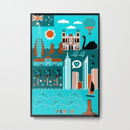 Perth lifestyle Metal Print