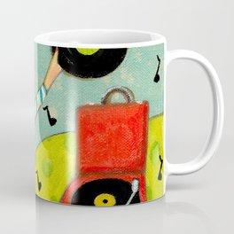 Record Player and Pug Coffee Mug