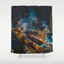 Ginza at Midnight Shower Curtain