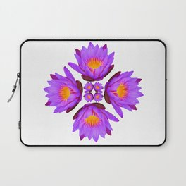 Purple Lily Flower - On White Laptop Sleeve