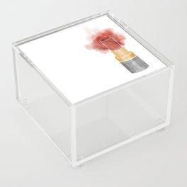 Watercolor Lipstick Acrylic Box
