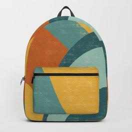 Retro Sunny Day Sunburst Backpack