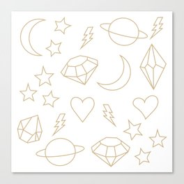 Space Gems Canvas Print