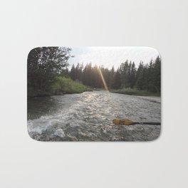 Rafting Down the Snake River Bath Mat