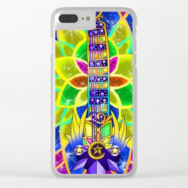 Fusion Keyblade Guitar #153 - Nightmare's End Reality Shift & Star Seeker Clear iPhone Case