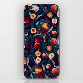Nectarine and Leaf pattern iPhone Skin