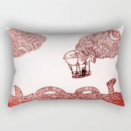 Nesi and the flying machine Rectangular Pillow